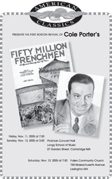 Fifty Million Frenchmen program cover